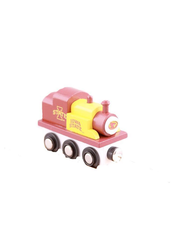 Iowa State Cyclones Red and Yellow Wooden Train - Image 1