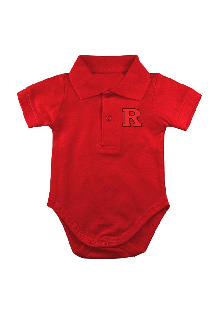 Rutgers Scarlet Knights Baby Red Logo Short Sleeve Polo One Piece - Image 1