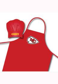 Kansas City Chiefs Red and White BBQ Apron Set