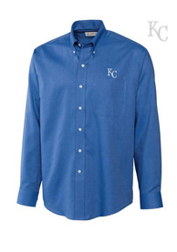 Kansas City Royals Cutter and Buck Nailshead Dress Shirt - Blue