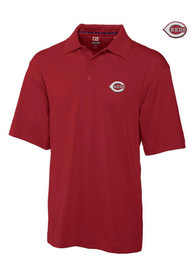 Cincinnati Reds Cutter and Buck Championship Polo Shirt - Red