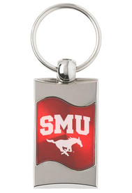 SMU Mustangs Red Wave Keychain