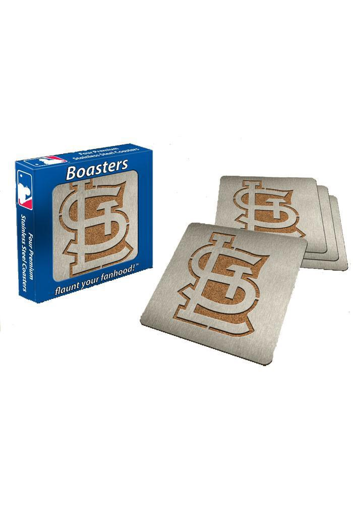 St Louis Cardinals 4pk Stainless Steel Coaster - Image 1