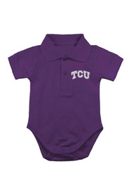 TCU Horned Frogs Baby Purple Logo Polo One Piece