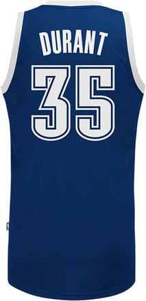 Kevin Durant Adidas OKC Mens Navy Blue Player Basketball Jersey