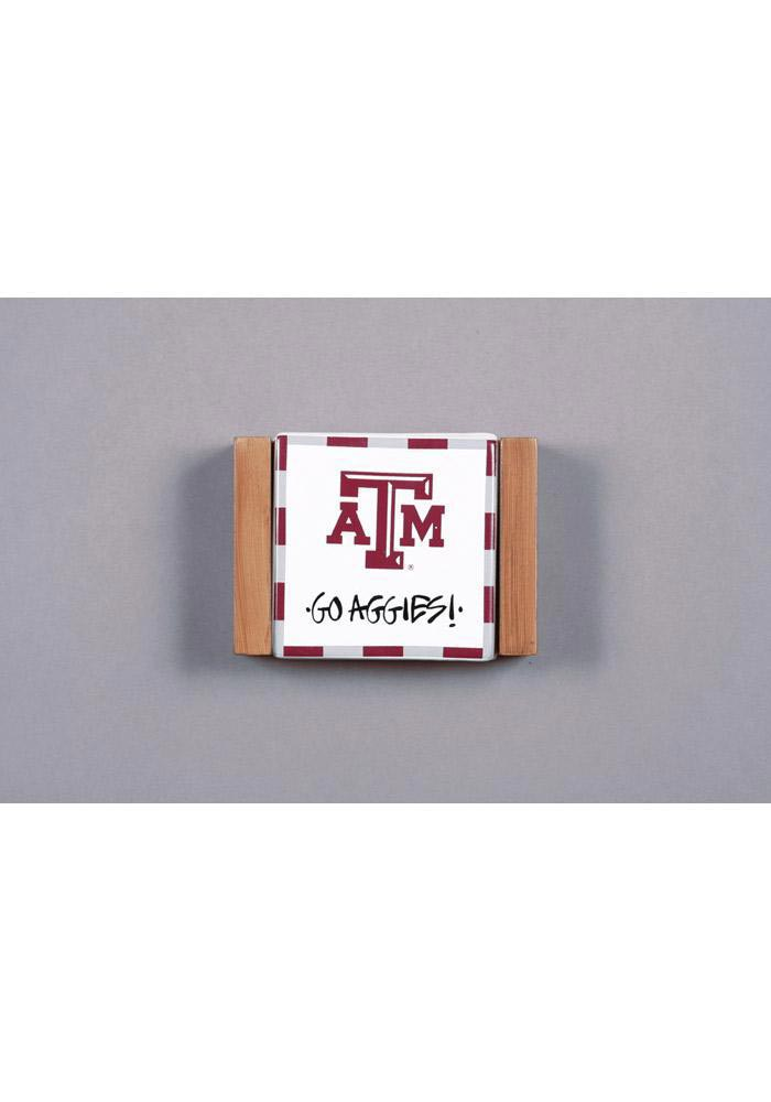 Texas A&M Aggies Coster Set and Holder Coaster - Image 1