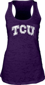 TCU Horned Frogs Womens Purple Foil Icon Tank Top