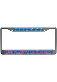 Kansas Jayhawks Evolution Domed License Frame