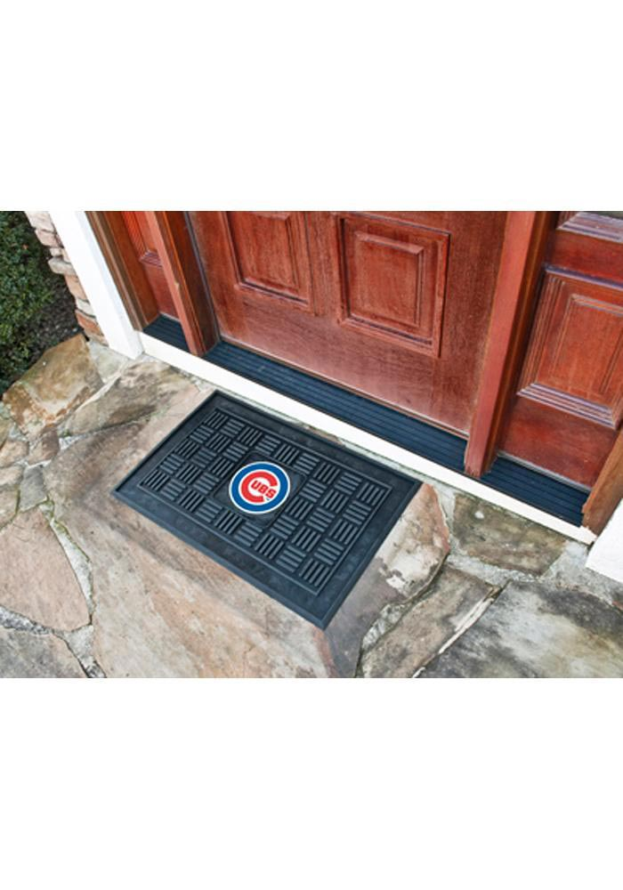 Chicago Cubs Black Vinyl Door Mat - Image 1