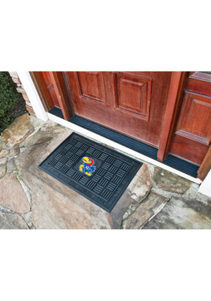 Kansas Jayhawks Black Door Mat