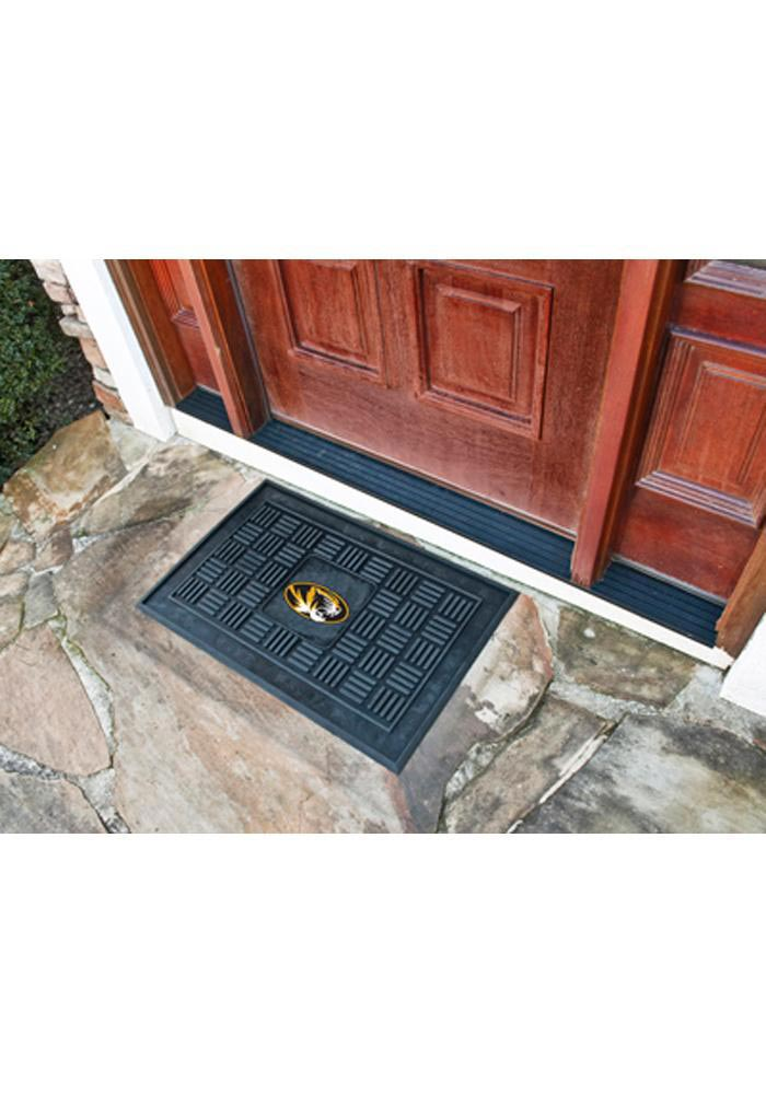 Missouri Tigers Black Vinyl Door Mat - Image 1
