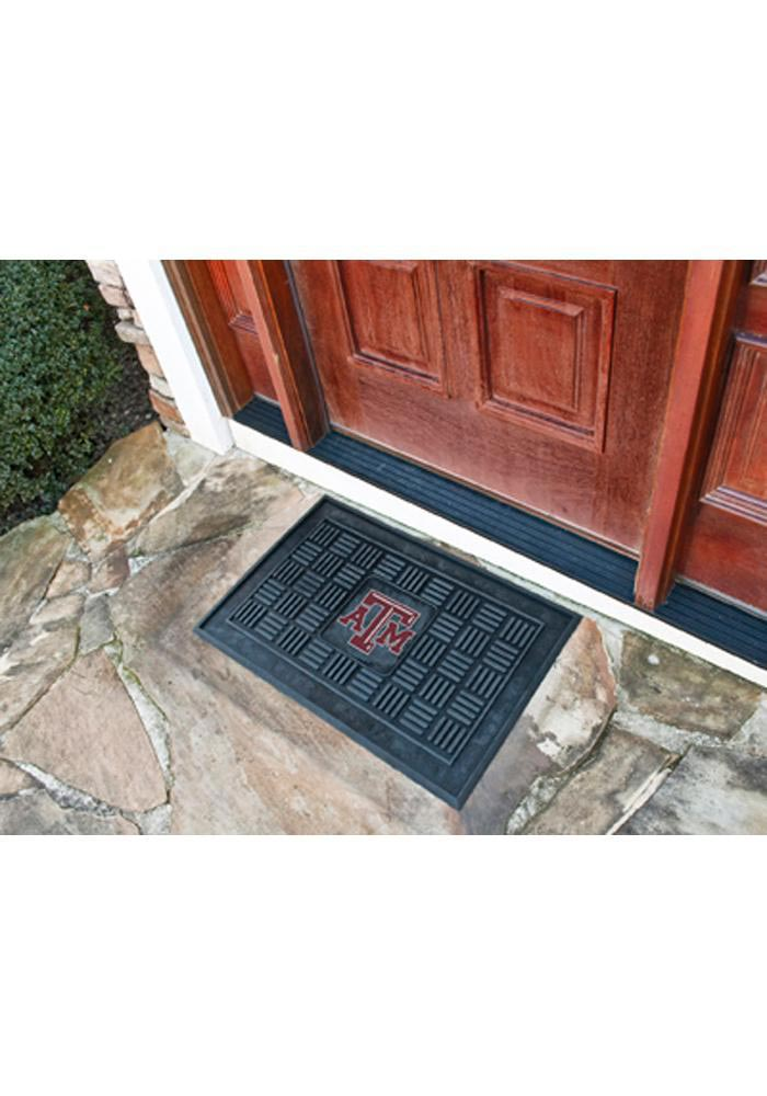 Texas A and M Aggies Black Vinyl Door Mat 1650756