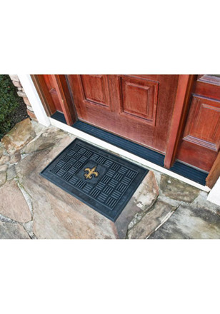 New Orleans Saints Black Door Mat