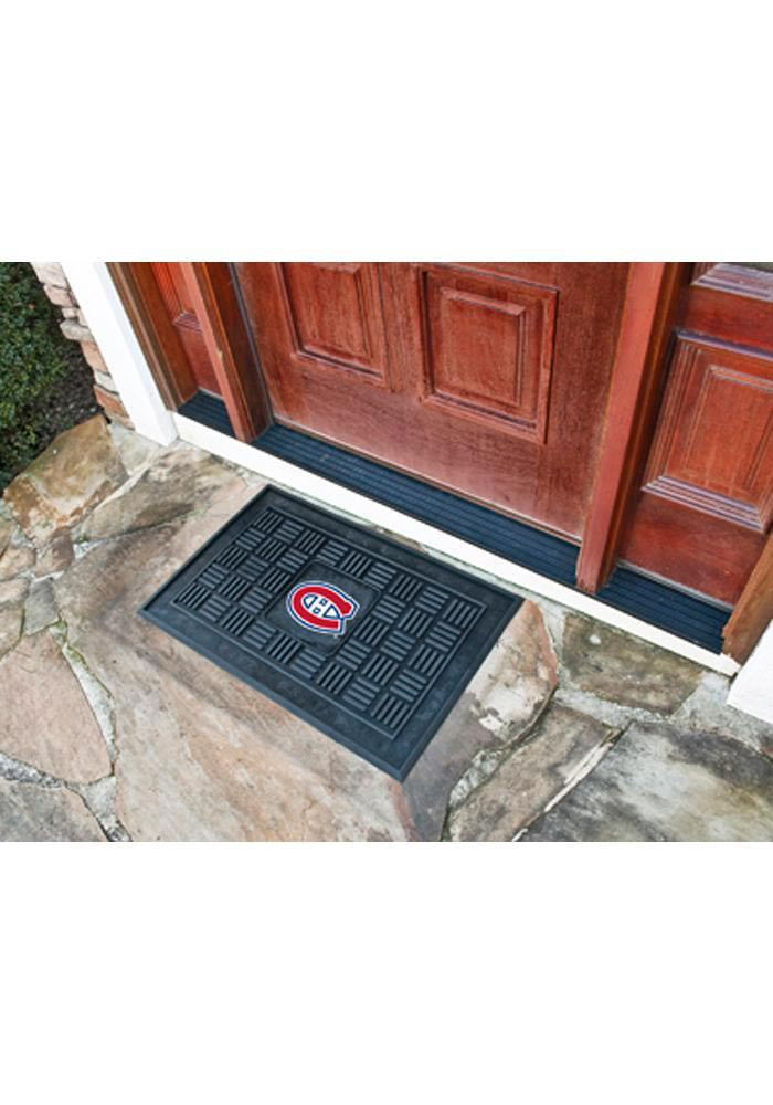 Montreal Canadiens Black Vinyl Door Mat - Image 1