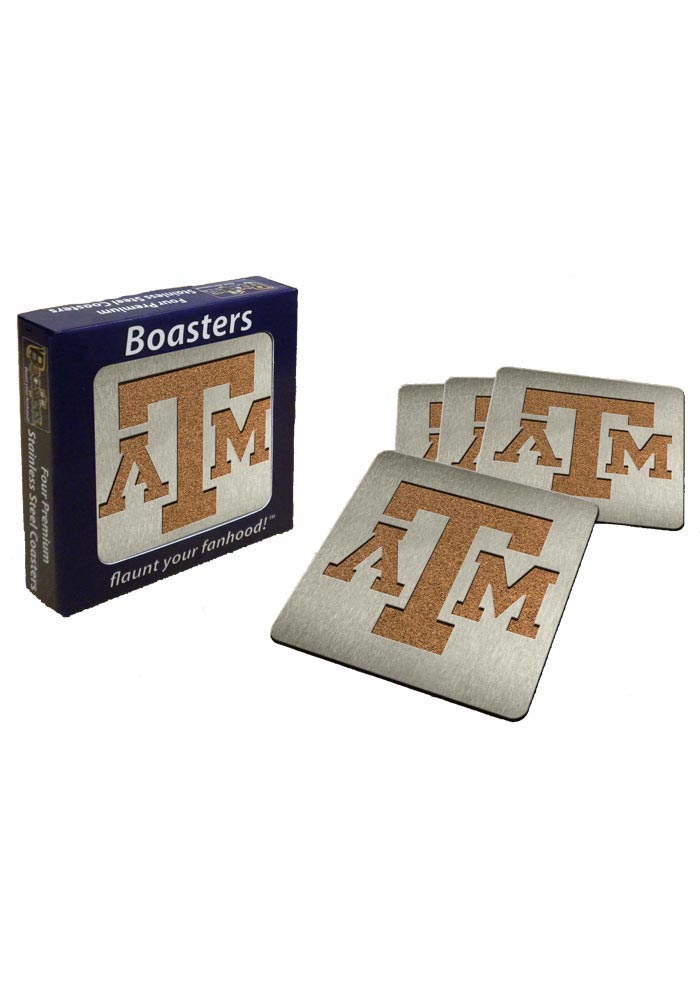 Texas A&M Aggies 4pk Stainless Steel Coaster - Image 1