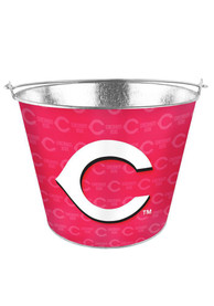 Cincinnati Reds 5 Quart Red Galvanized Bucket