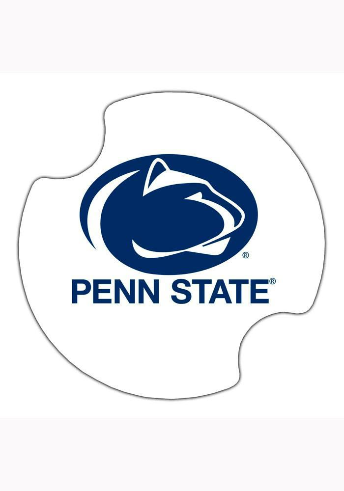 Penn State Nittany Lions 2 Pack Car Coaster - White - Image 1
