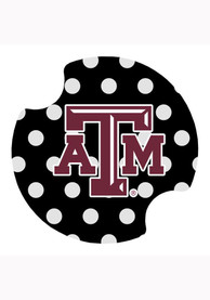 Texas A&M Aggies Polka Dot Car Coaster - Maroon