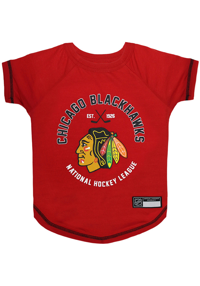 Chicago Blackhawks Team Logo Pet T-Shirt