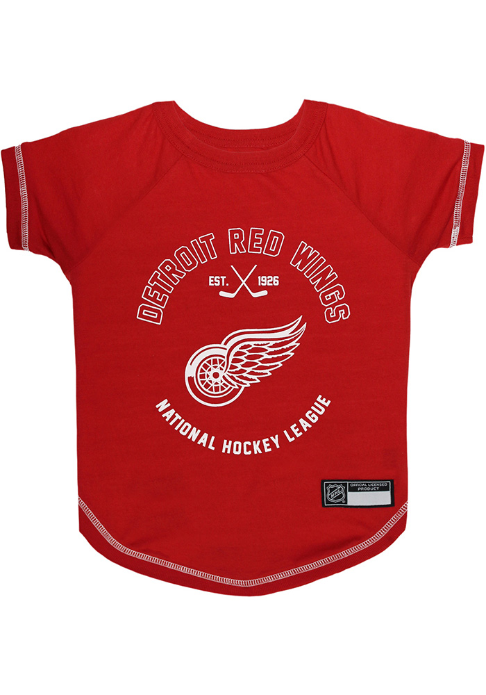 Detroit Red Wings Team Logo Pet T-Shirt - Image 1