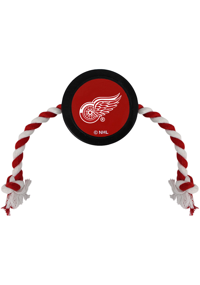 Detroit Red Wings Hockey Puck Pet Toy - Image 1