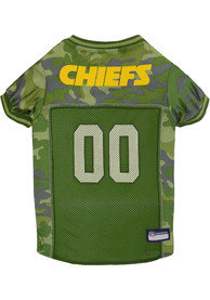 Kansas City Chiefs Camo Football Pet Jersey