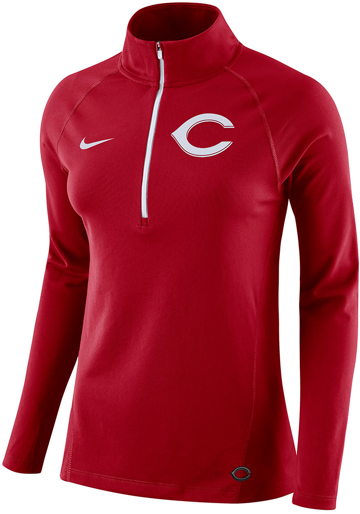 Nike Cincinnati Reds Womens Core Red 1/4 Zip Pullover