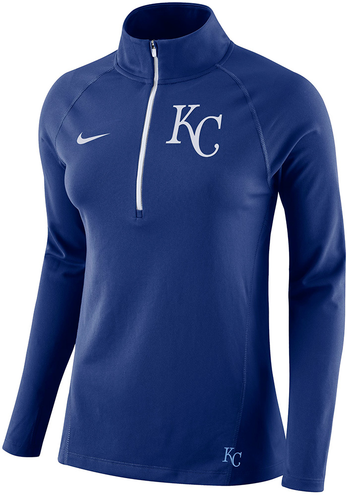Nike KC Royals Womens Blue Core 1/4 Zip Pullover - Image 1