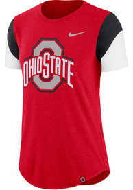 huge discount 9233e 4d6ad Nike Ohio State Buckeyes Womens Red Fan T-Shirt