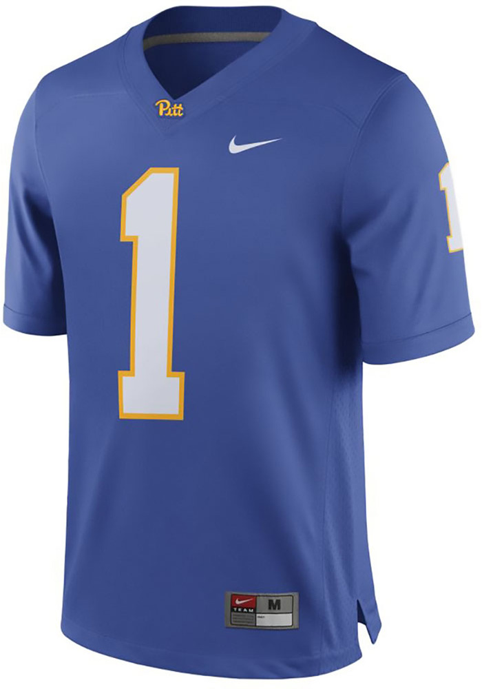 quality design 0904f 0288a Nike Pitt Panthers Mens Blue Game Football Jersey