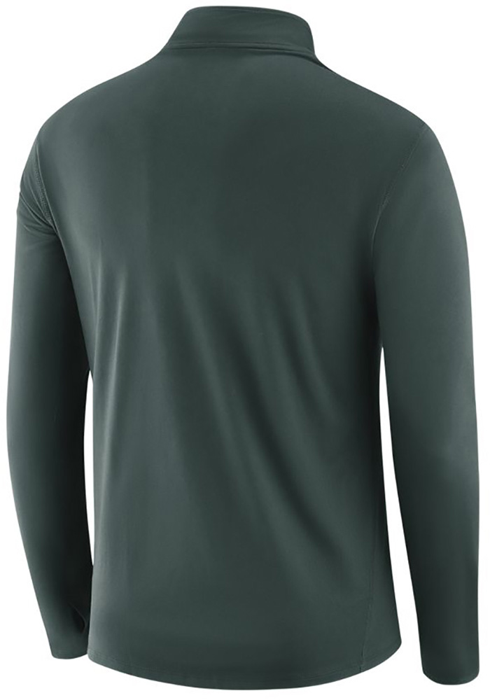Nike Michigan State Spartans Mens Green Core Long Sleeve 1/4 Zip Pullover - Image 2