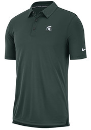 Nike Michigan State Spartans Mens Green Col M NK Polo Short Sleeve Polo