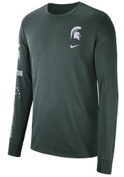 Michigan State Spartans Nike Elevate T Shirt - Green