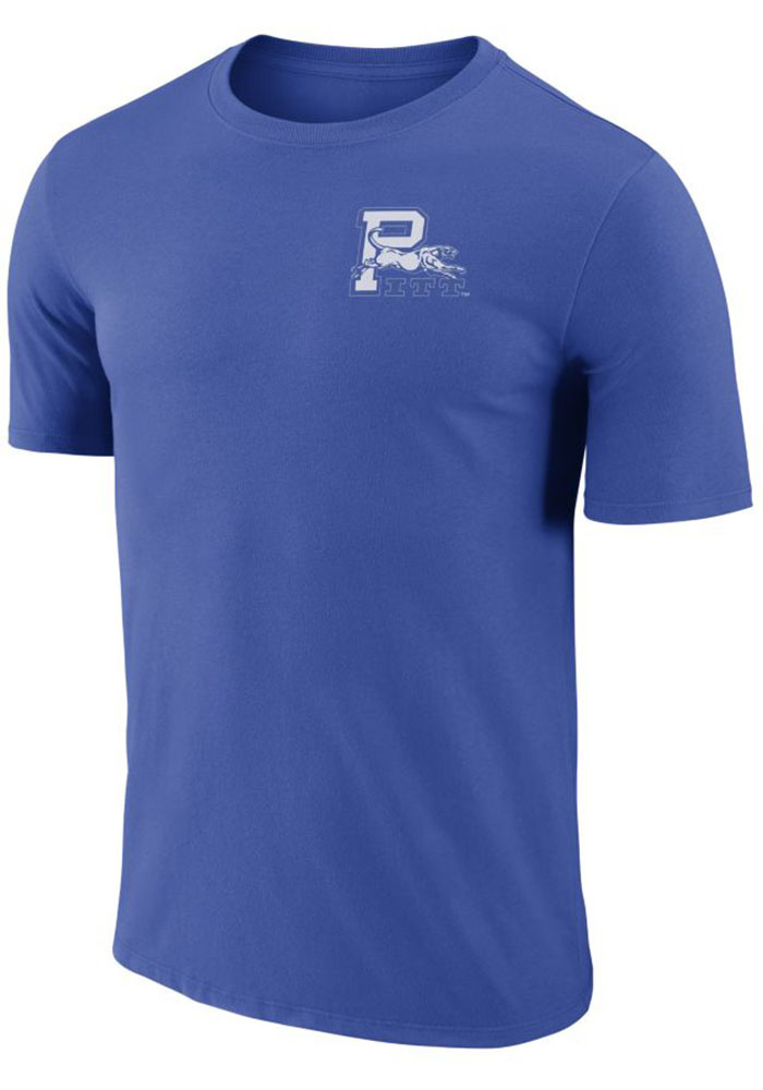 Pitt Panthers Blue Crew Stadium Short Sleeve T Shirt - Image 1