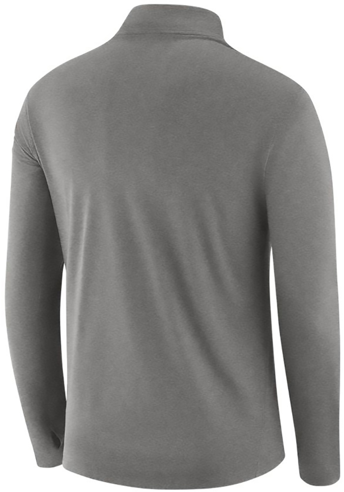 Nike Texas Longhorns Mens Grey Core Long Sleeve 1/4 Zip Pullover - Image 2