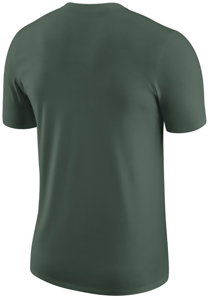 Nike Michigan State Spartans Green Team Short Sleeve T Shirt - Image 2