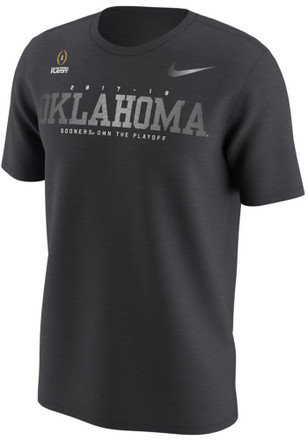 Nike Oklahoma Sooners Mens Grey CFP Wordmark Tee
