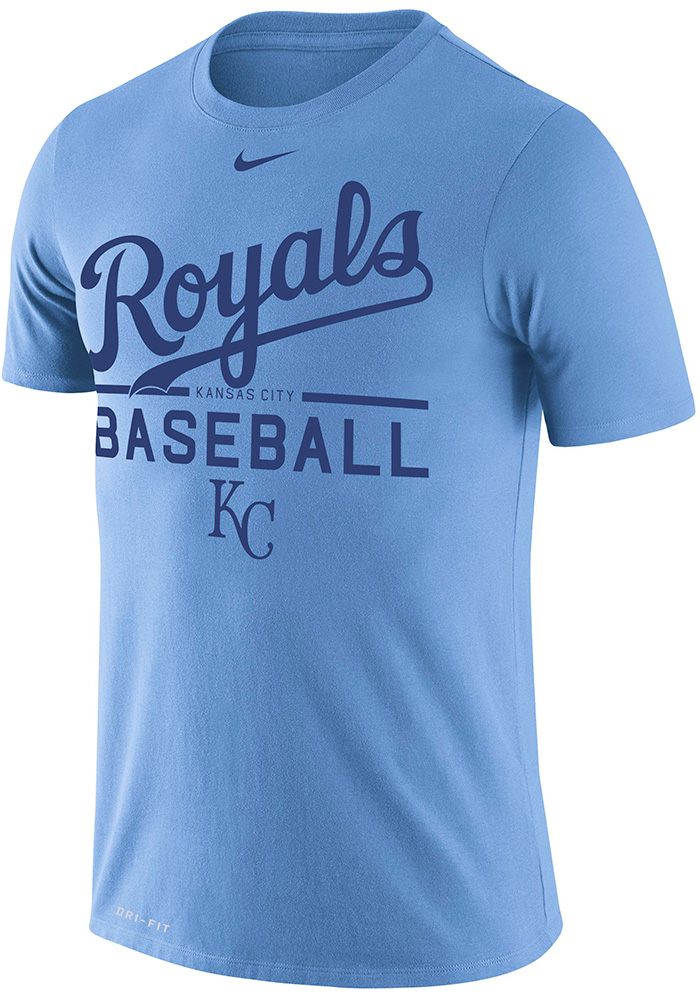 Nike Kansas City Royals Light Blue Dry Practice Tee
