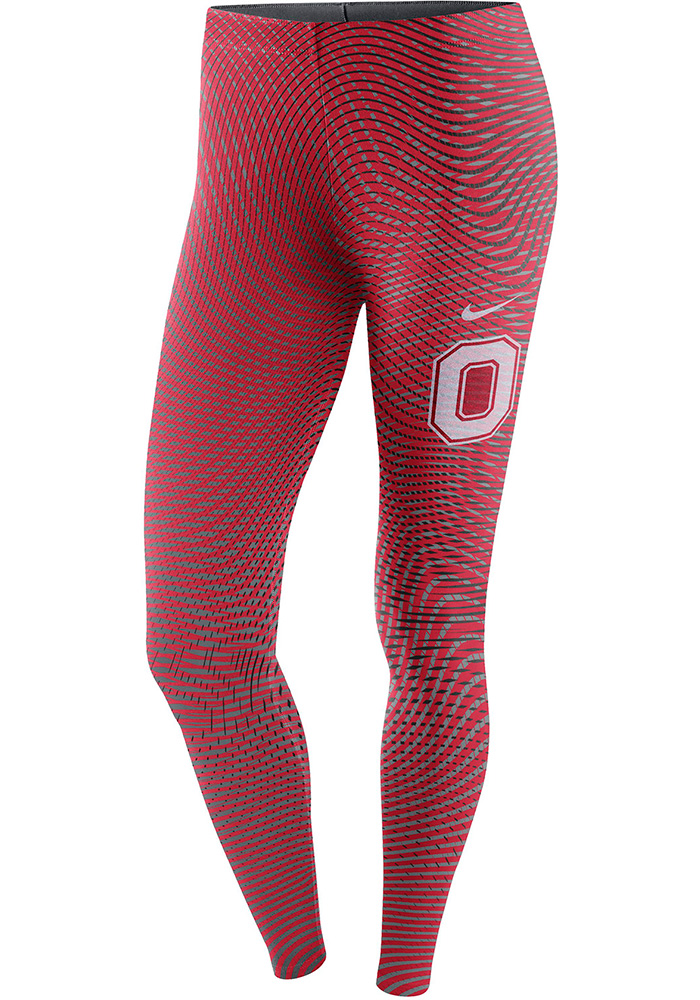 Nike Ohio State Buckeyes Womens Red Legasee Pants, Red, 57% COTTON / 32% POLYESTER / 11% SPANDEX, Size XL