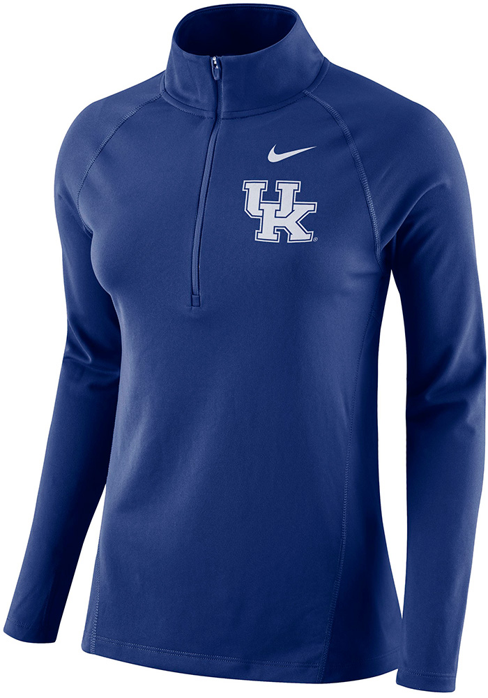 Nike Kentucky Wildcats Womens Element Blue 1/4 Zip Pullover