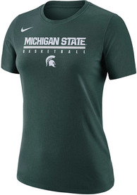 Michigan State Spartans Womens Nike Basketball Practice Legend T-Shirt - Green