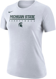 Michigan State Spartans Womens Nike Basketball Practice Legend T-Shirt - White