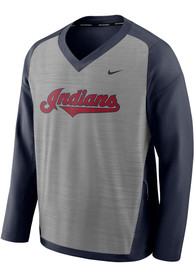 Cleveland Indians Nike Dry Pullover Jackets - Grey
