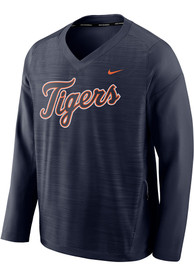 Detroit Tigers Nike Dry Pullover Jackets - Navy Blue