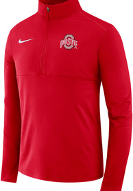 Ohio State Buckeyes Nike College Core 1/4 Zip Pullover - Red