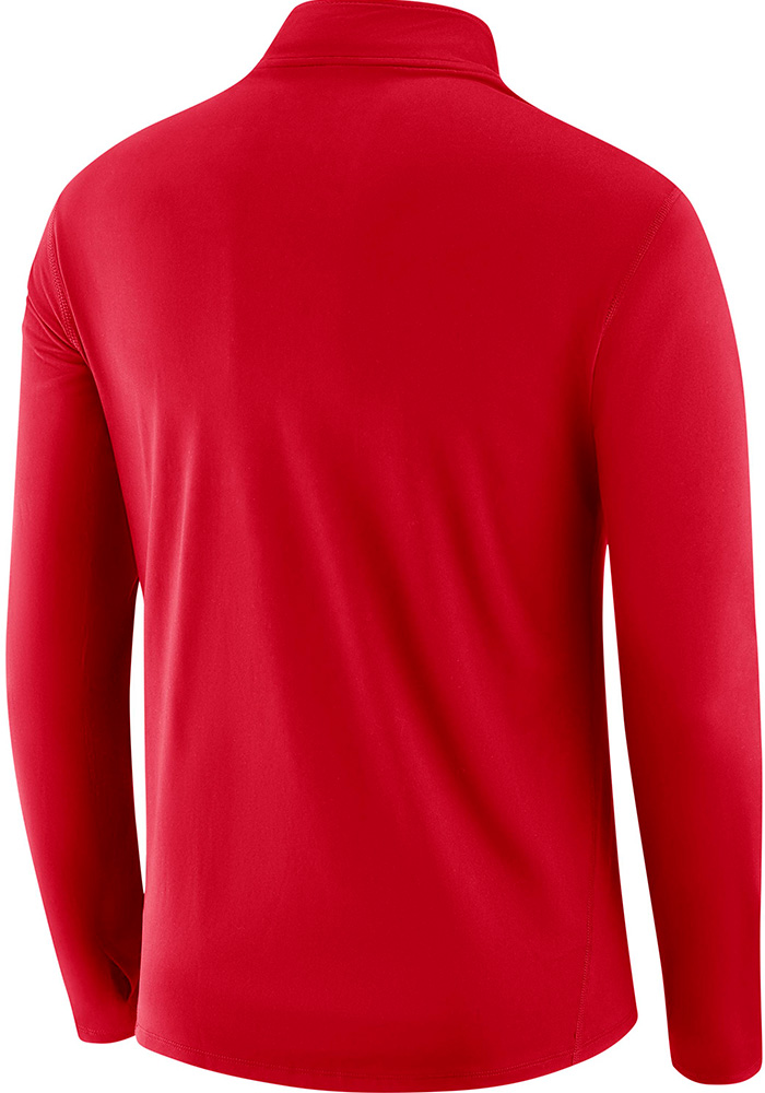 Nike Ohio State Buckeyes Mens Red College Core Long Sleeve 1/4 Zip Pullover - Image 2