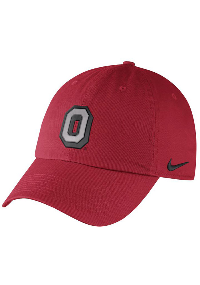 Nike Ohio State Buckeyes Mens Red Vintage DF H86 Authentic Adjustable Hat - Image 1