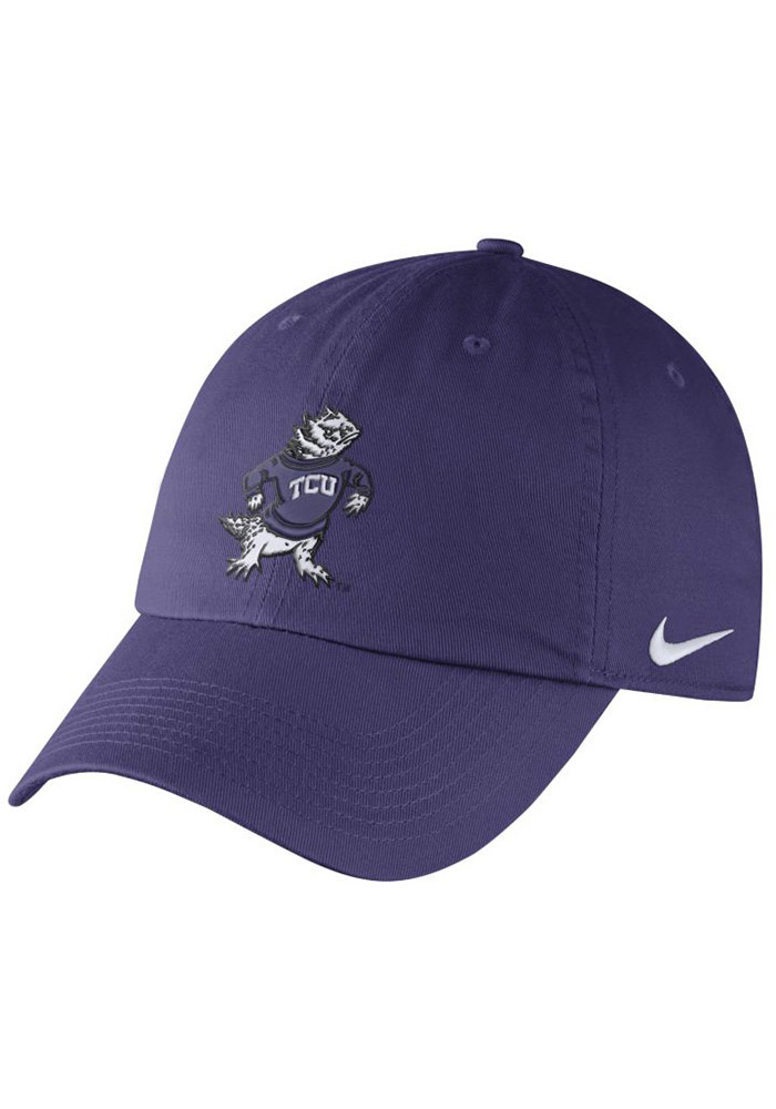Nike TCU Horned Frogs Vintage DF H86 Authentic Adjustable Hat - Purple - Image 1