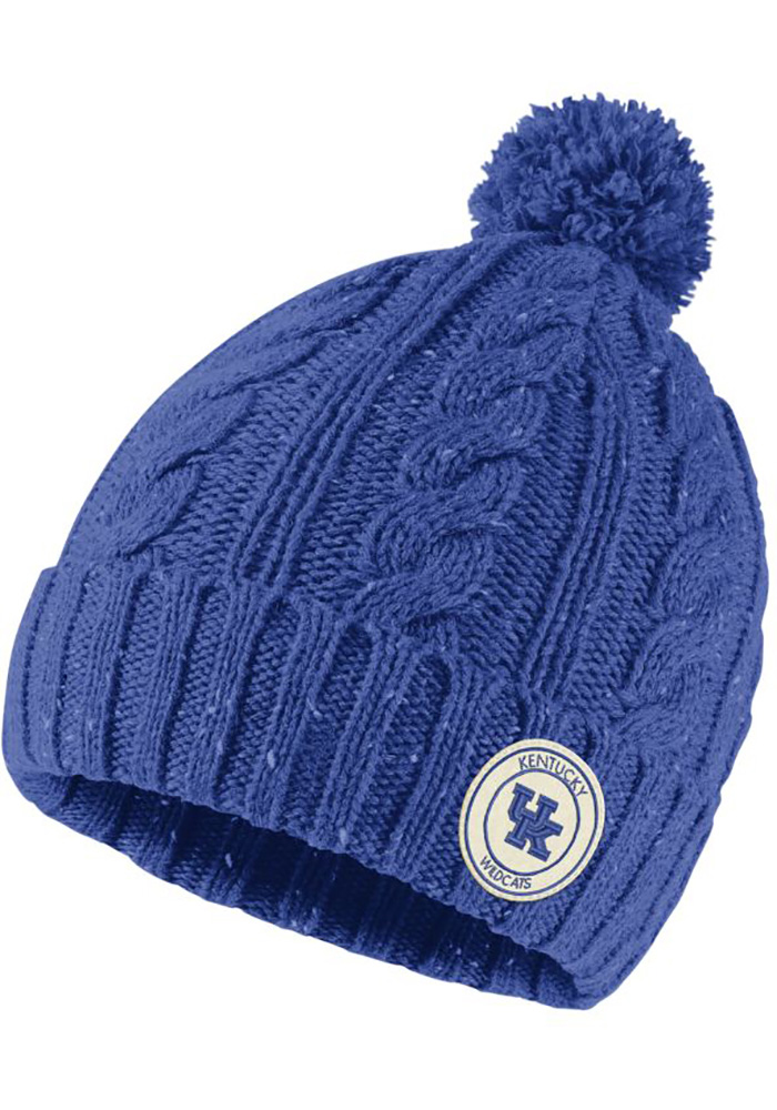 cheap for discount 81bdd b9e31 ... coupon code for nike kentucky wildcats womens blue patch pom knit knit  hat 3fdda a0a39