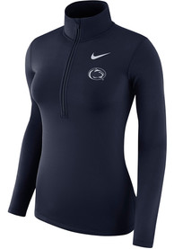 Penn State Nittany Lions Womens Nike Performance Half 1/4 Zip - Navy Blue